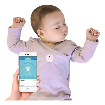 MonBaby Smart Button a Smart Breathing and Movement Monitor White, New