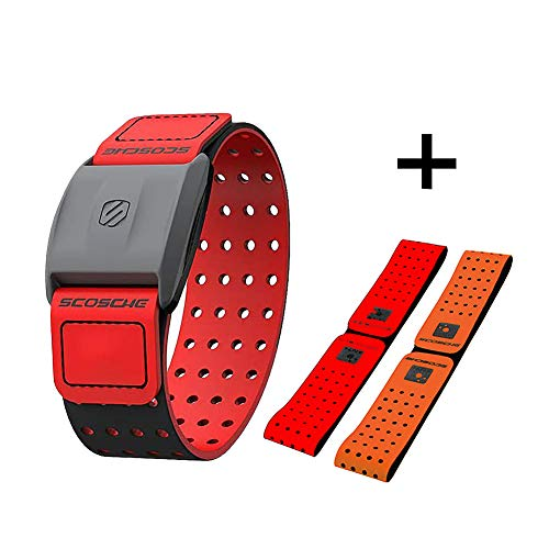 Scosche Rhythm 1.9 Armband Heart Rate Monitor Exclusive Clever Training Red
