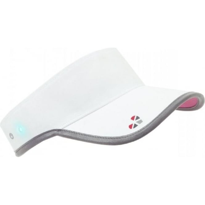 Smart Visor that measures Heart Rate White/Pink at ...