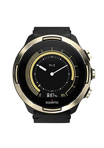 Suunto 9 GPS Sports Watch - Gold Leather