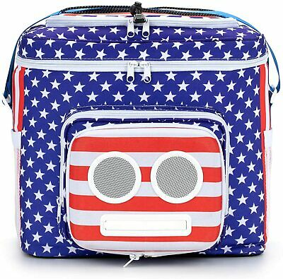 The #1 American Flag Cooler with Speakers & Subwoofer (Bluetooth, 15-Watt)
