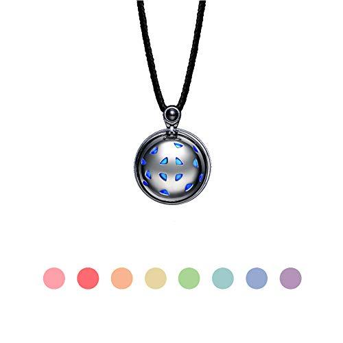 totwoo Smart Jewelry Bracelet Necklace,Couple Bracelet Necklace Simultaneously Induction Vibration Calling Vibrating Flash Reminder Birthday Love Gifts For Mens Boyfriend Husband(Necklace-Black)