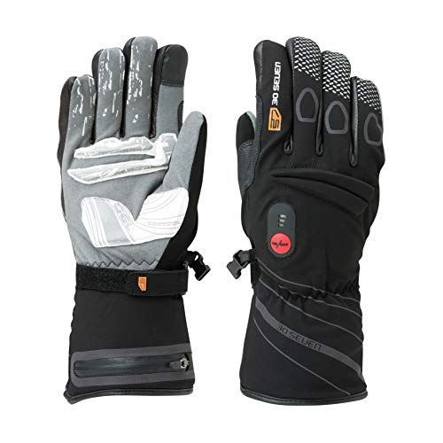 30seven Heated Gloves Batteries Tear Wind Waterproof Black XLarge