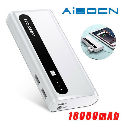 Aibocn 10000mAh Power Bank Portable External Battery Charger with LED Flashlight