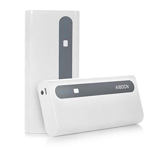 Aibocn Power Bank 10,000mAh External Battery Charger (White-Grey)