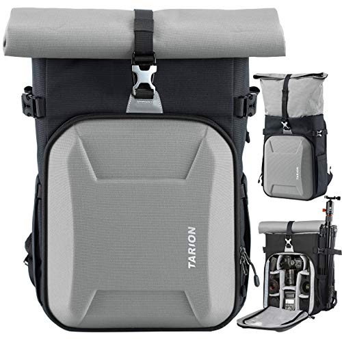 """Alternative Evecase - TARION XH Camera Bag Hardcase Camera Case Roll Top Camera Backpack 