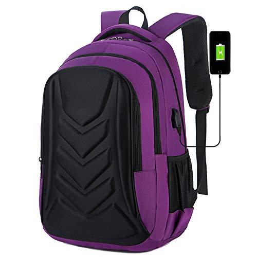 Amadon Anti-Theft Waterproof men's Business Backpack - Purple