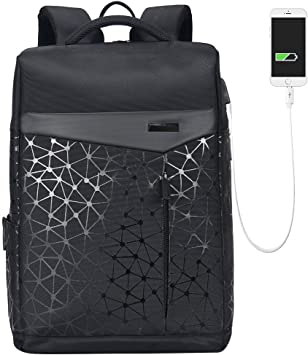 Aoking College 15.6 Laptop USB Backpack