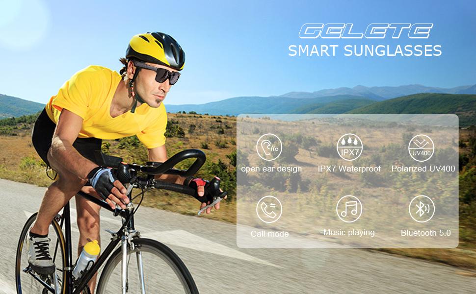 GELETE Sport Bluetooth Sunglasses
