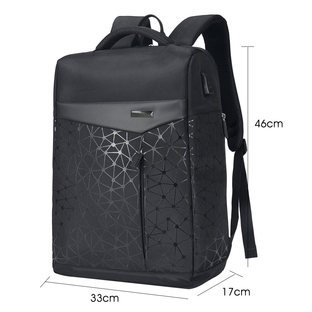 Aoking College 15.6 Laptop USB Backpack Antitheft Waterproof Office Slim Cool Backpack for Men ...