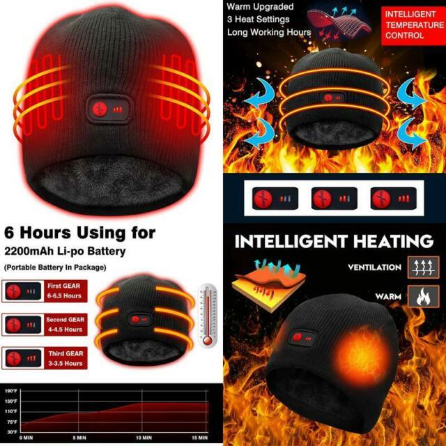 Autocastle Heated Hat Rechargeable Battery Heat Cap,3 Heat ...
