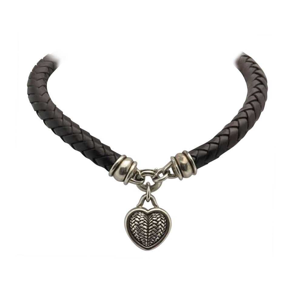 Barry Kieselstein Cord Sterling Silver Heart and Braided ...