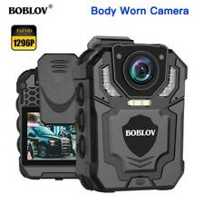 BOBLOV 1296P Wearable Police Body Camera with Audio Recording Supported Max 128G