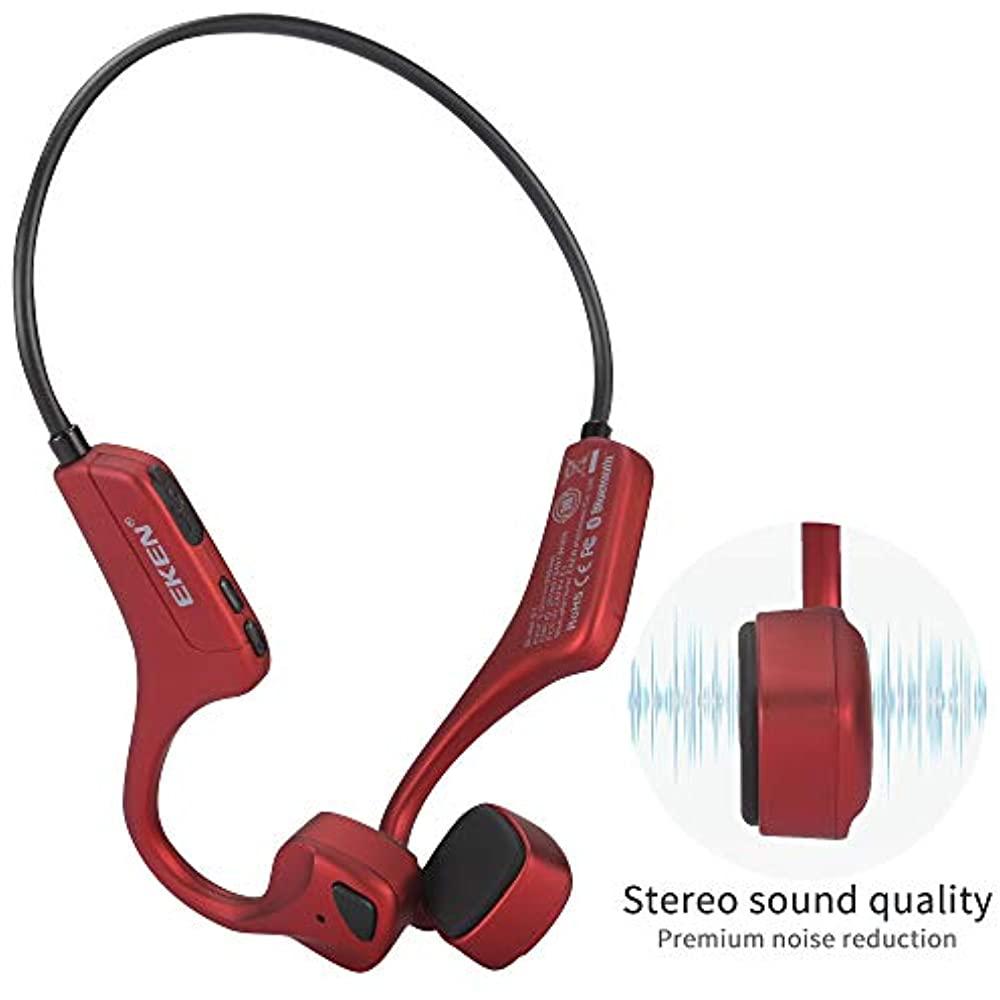 Bone Conduction Headphones, Bluetooth 5.0 With Mic Open ...