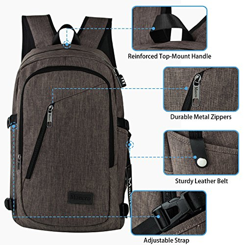 Business Laptop Backpack, Mancro 15 15.6 Inch College ...