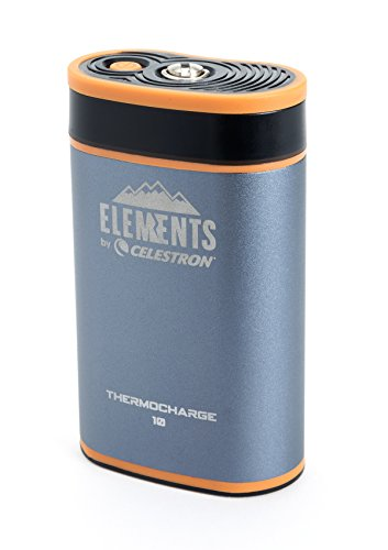Celestron Elements 2-In-1 Hand Warmer and Charger, ThermoCharge 10, Blue (48024)