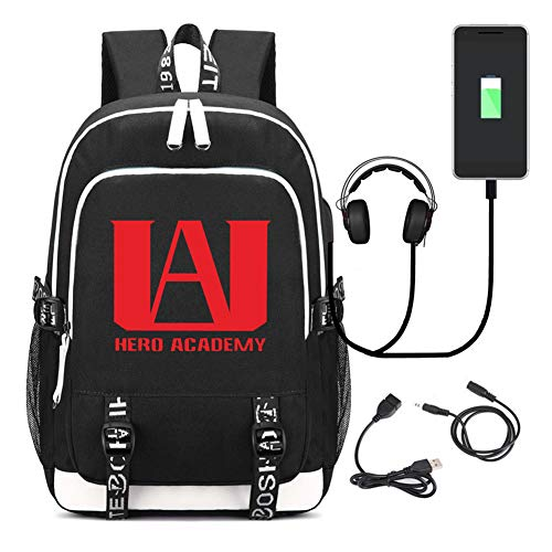 CHENMEILI My Hero Academia Backpack - Black 2