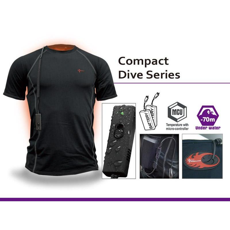 Compact Dive Series Heated Undersuit - 70m/230ft