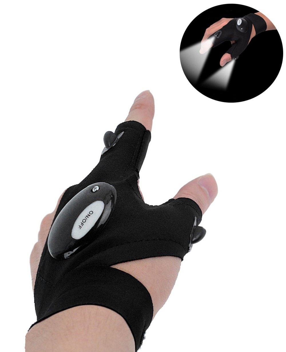 Coroler Cool Fingerless LED Flashlight Gloves Best Offer ...