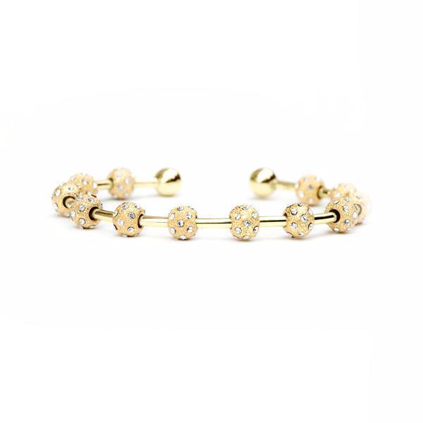 Count Me Healthy Crystal & Gold Journal Bracelet - Chelsea ...