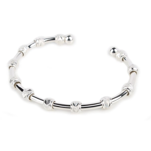 Count Me Healthy Gratitude and Blessings Collection Journal Bracelet - Gratitude Silver