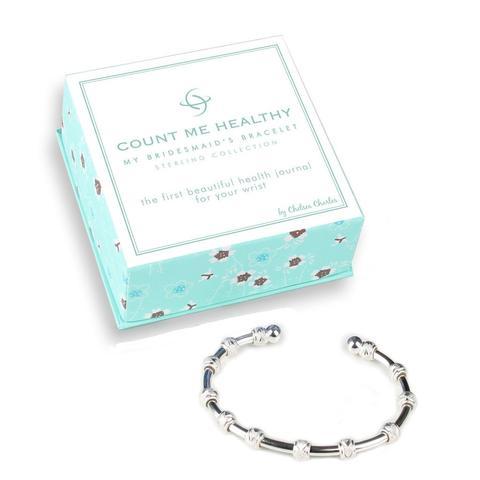 Count Me Healthy Original Silver Journal Bracelet ...