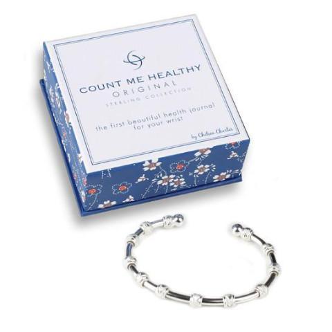 Count Me Healthy Original Silver Journal Bracelet (Best ...