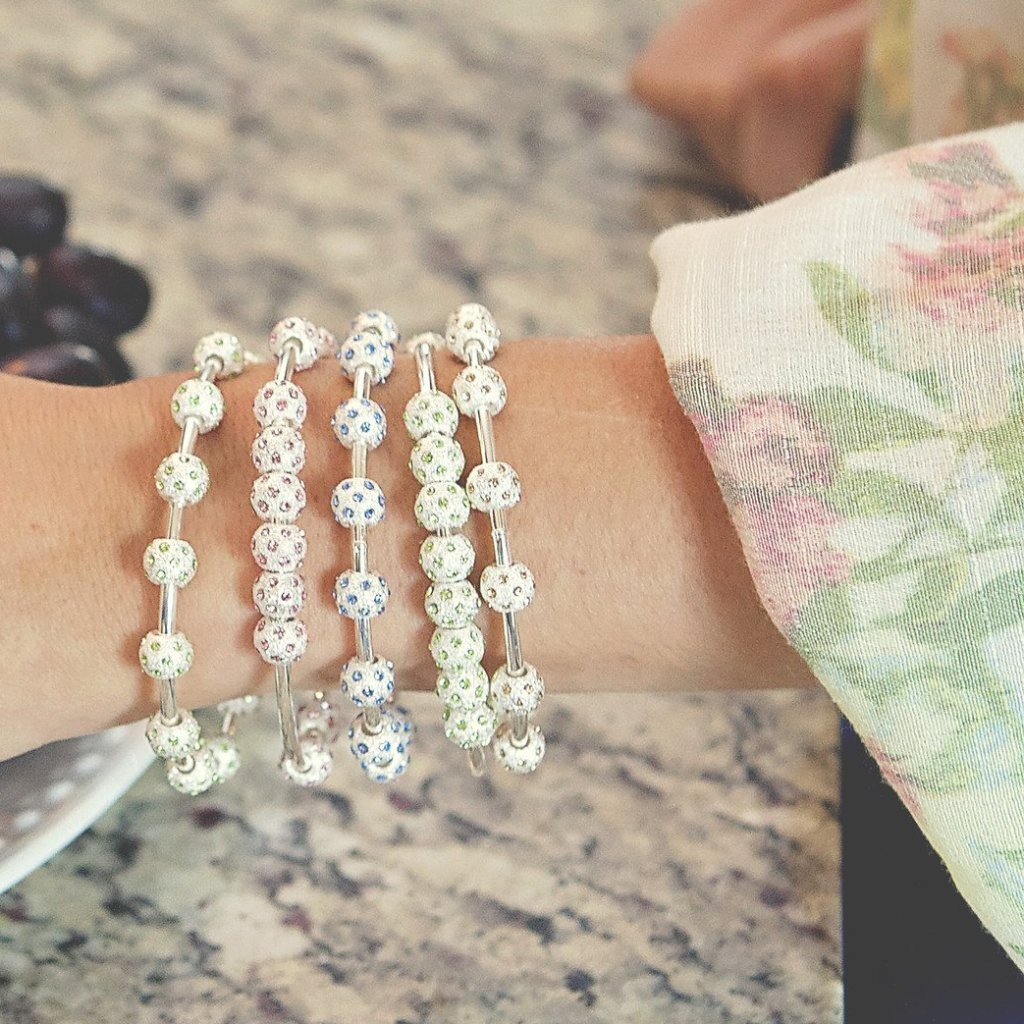 Count Me Healthy Pale Sapphire Crystal Journal Bracelet ...