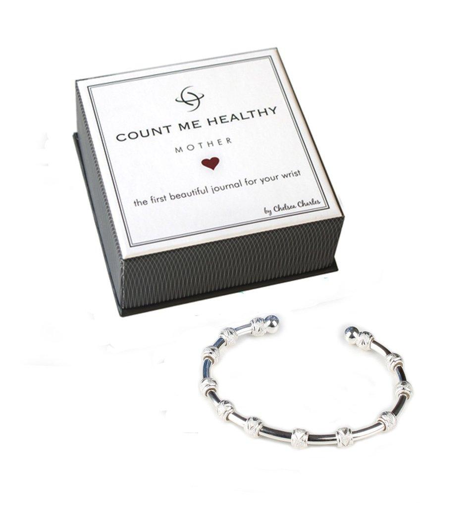 Count Me Healthy Silver Mother Journal Bracelet | Chelsea ...