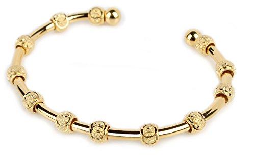 Count Me Healthy Wellness Journal Bracelet - Gold