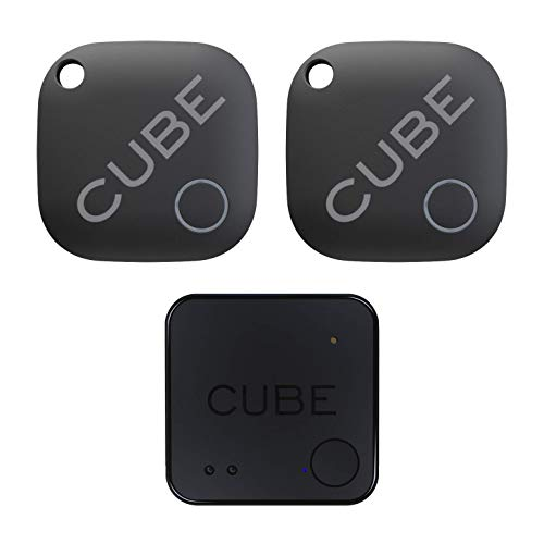 Cube Tracker, Cube Shadow Bundle, Key Finder Smart Bluetooth Item Tracker for Luggage, Wallet, Dogs, Kids, Cats, with app for Phone, Replaceable Battery Waterproof Tracking Device