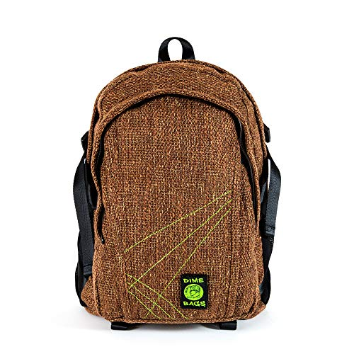 Dime Bags Classic Hemp Backpack (Brown)
