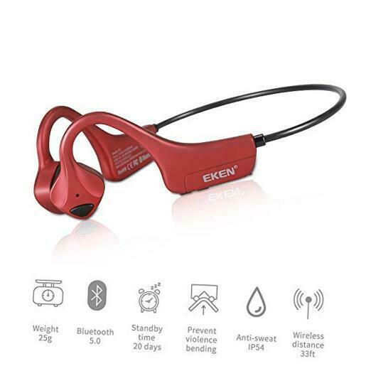 EKEN Bone Conduction Headphones - Bluetooth 5.0 with Mic ...