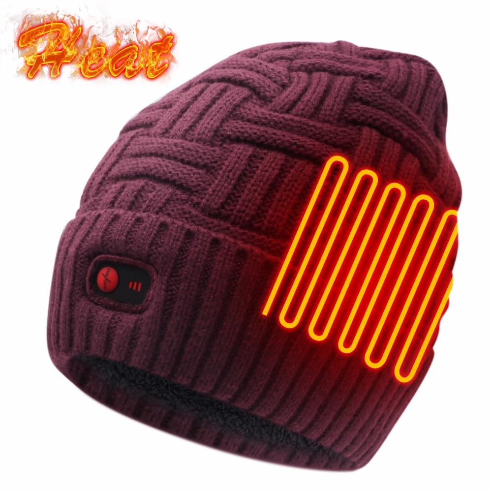 Electric Heated Hat,Rechargeable Battery Operated for Men ...