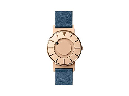 Eone Bradley Lux Rose Gold Watch Blue Leather Band