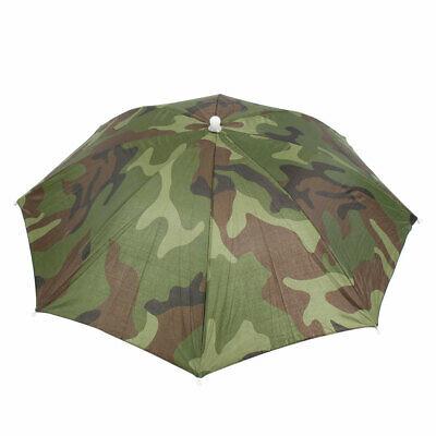 Fishing Elastic Headband Camouflage Pattern Sun Rain Umbrella Hat Cap
