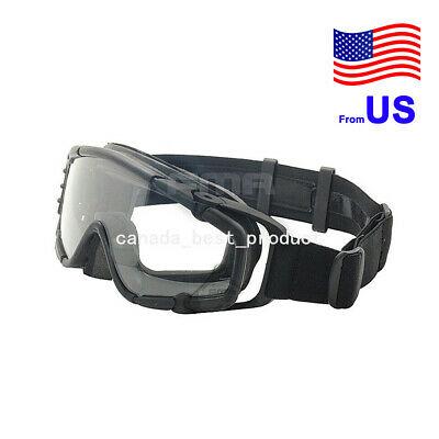 FMA Fan Version Airsoft Glass Regulator Goggles Ski Snowboard Bike Sports BK USA