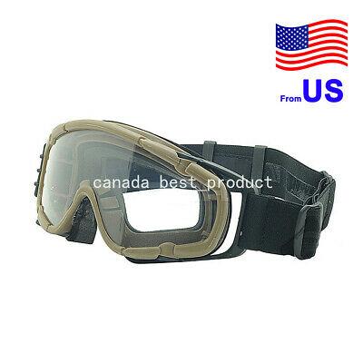 FMA Fan Version Airsoft Glass Regulator Goggles Ski Snowboard Bike Sports DE USA
