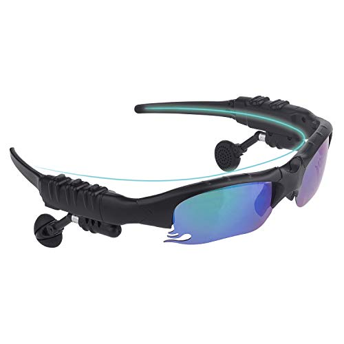 GELETE Smart Bluetooth Sunglasses Polarized Discolored Lenses Easy to Make Phone Calls and Listen to Music Navigation for Free a Pair of Black Lenses a Pair of Night Vision Yellow Lenses(Black)