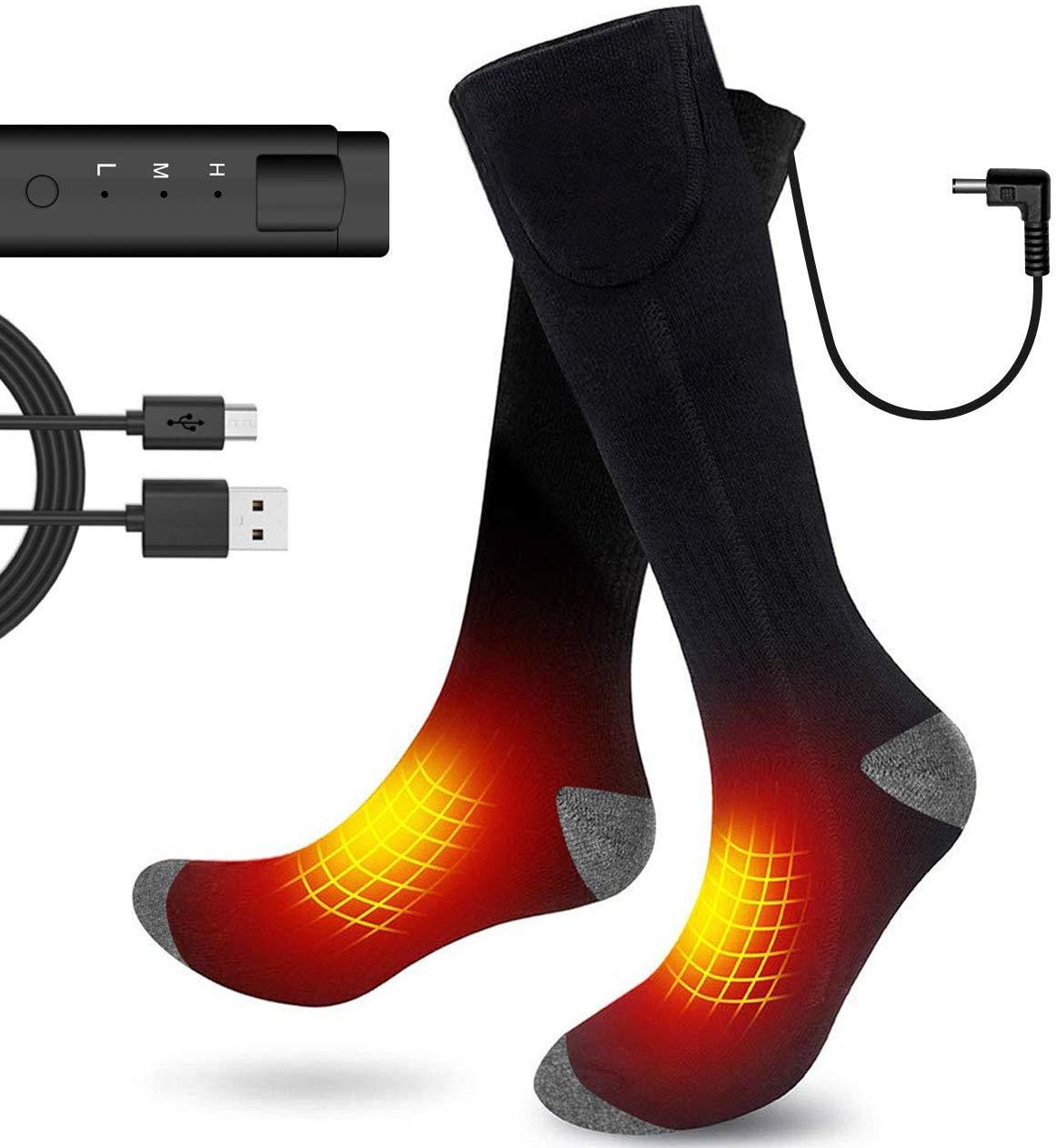 Global Vasion Electric Heated Socks Men, 3.7V Cold Winter ...