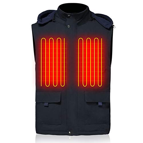 GLOBAL VASION Heated Vest Battery Rechargeable Electric Vest for Men Motorcycle,Hiking,Skiing
