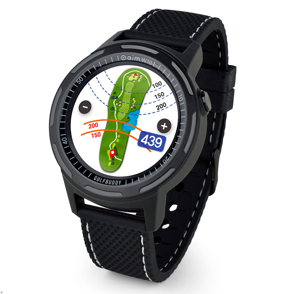 GolfBuddy aim W10 GPS Watch from american golf