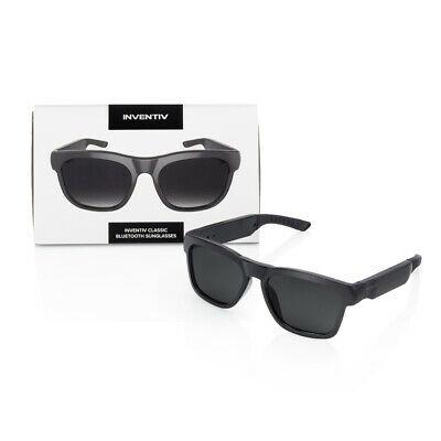 Grey Wireless Bluetooth Polarized Sunglasses, Open Ear Music, Hands-Free Calling