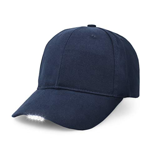 Hands Free LED Baseball Cap Hat for Outdoor Jogging Hip Hop Party Holiday Blue