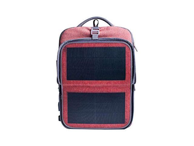 "hanergy solar laptop backpack business travel 2 usb port 16"" (pink)"