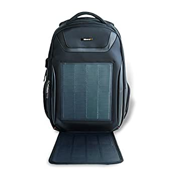 HANERGY Solar Powered Backpack with Built-in 10.6W Solar Thin Film Panel, Solar ...