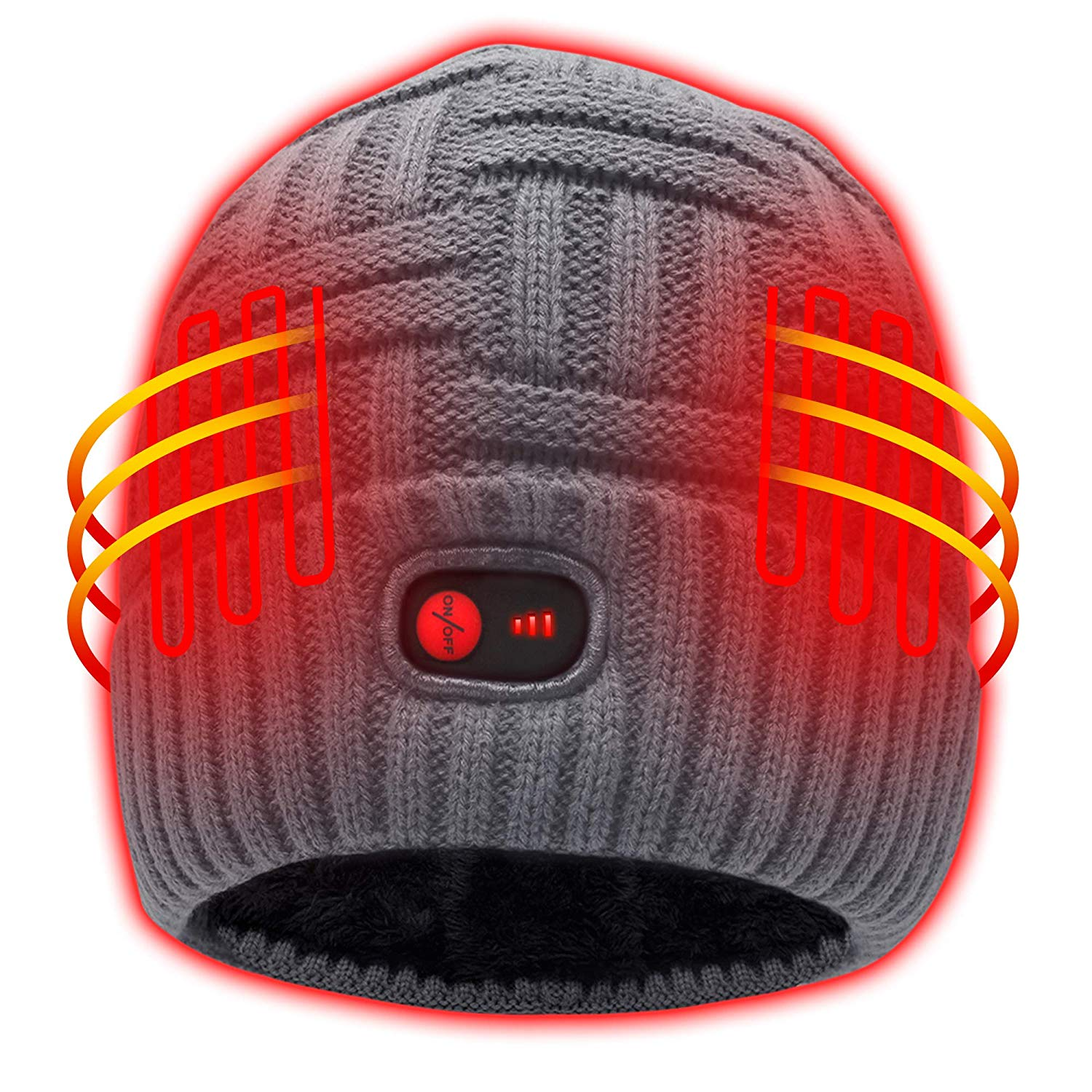 Heated Hat with Rechargeable Battery