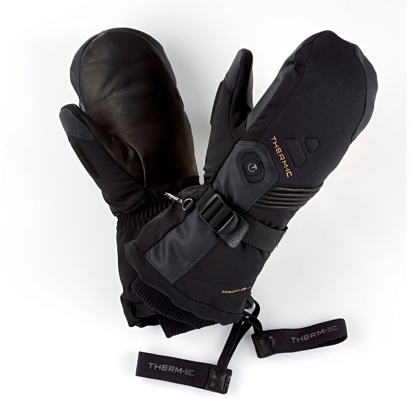 Heated mittens with batteries for men