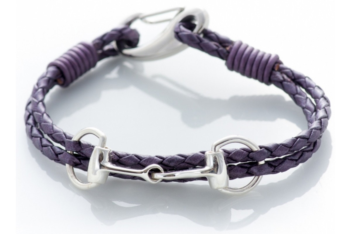 Hiho Exclusive Equestrian Sterling Silver Snaffle Leather ...