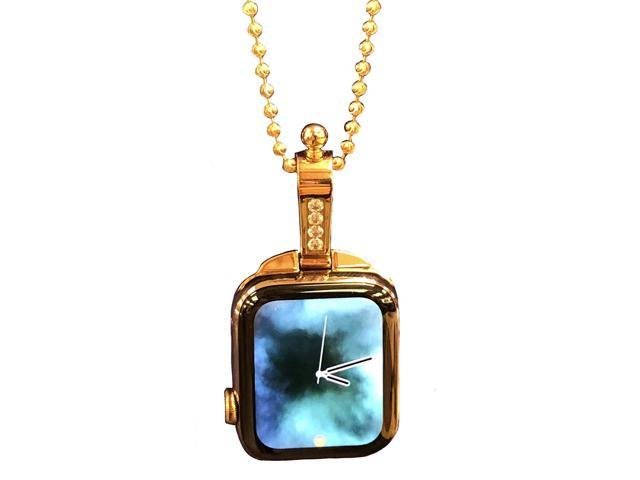 iClasp Apple Watch Jewelry Necklace Adapter Pendant, (The Rose Gold Over Polished Stainless Steel(Includes 3.2 mm Stainless Ball Chain 30 inch) (Apple Watch Not Included). Not Apple Product.